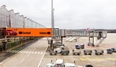 Jet bridge Cologne airport