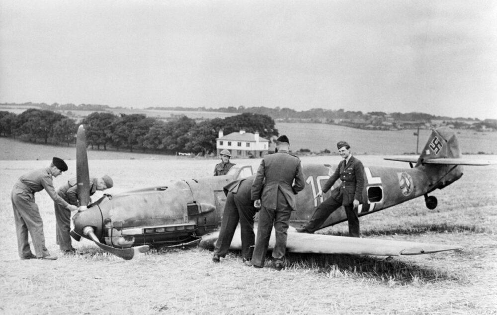 Kent - Luftwaffe Messerschmitt ME-109E Shot Down during the Battle of Britain