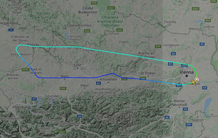 Flight OS-177 flight path