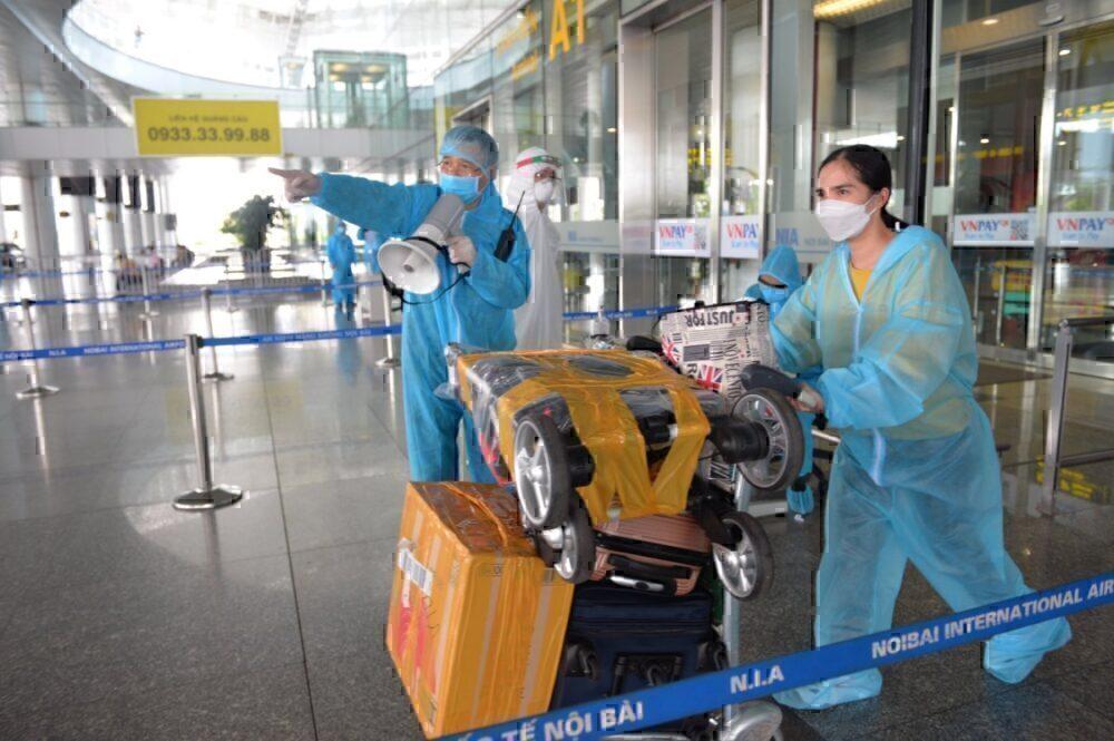 Departing for quarantine