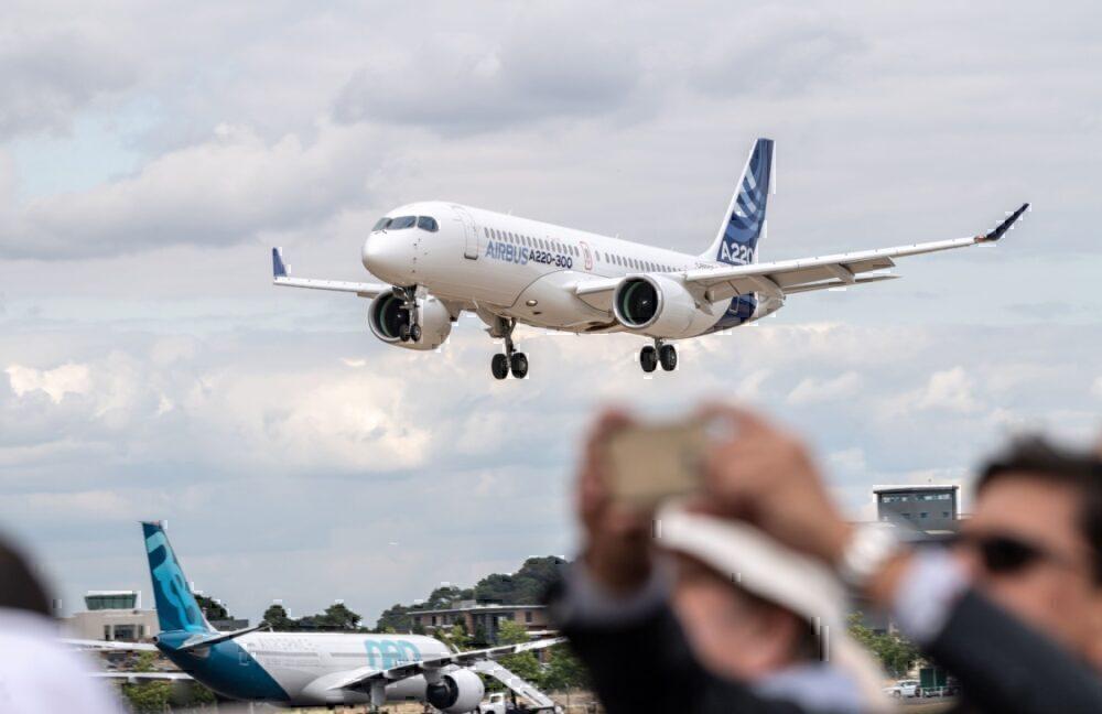 Airbus-a220-rain-causes-engine-shutdown
