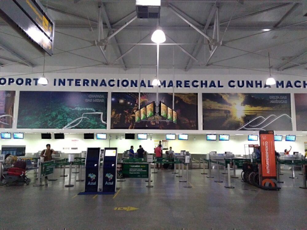 Sao Luis airport bridge fire
