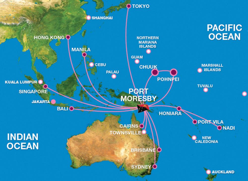 air-niugini-route-map