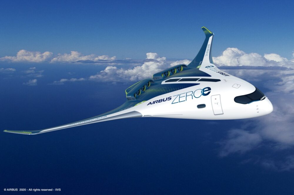 Boeing's Rival Airbus Reveals Concept of World's First Zero-Emission Plane