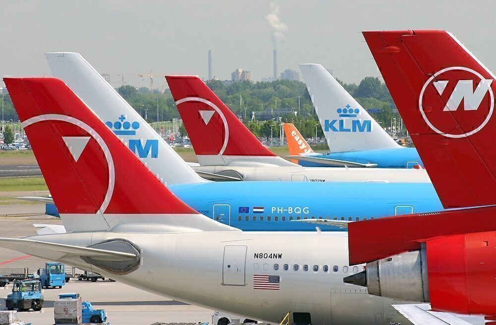 NWA and KLM Tails