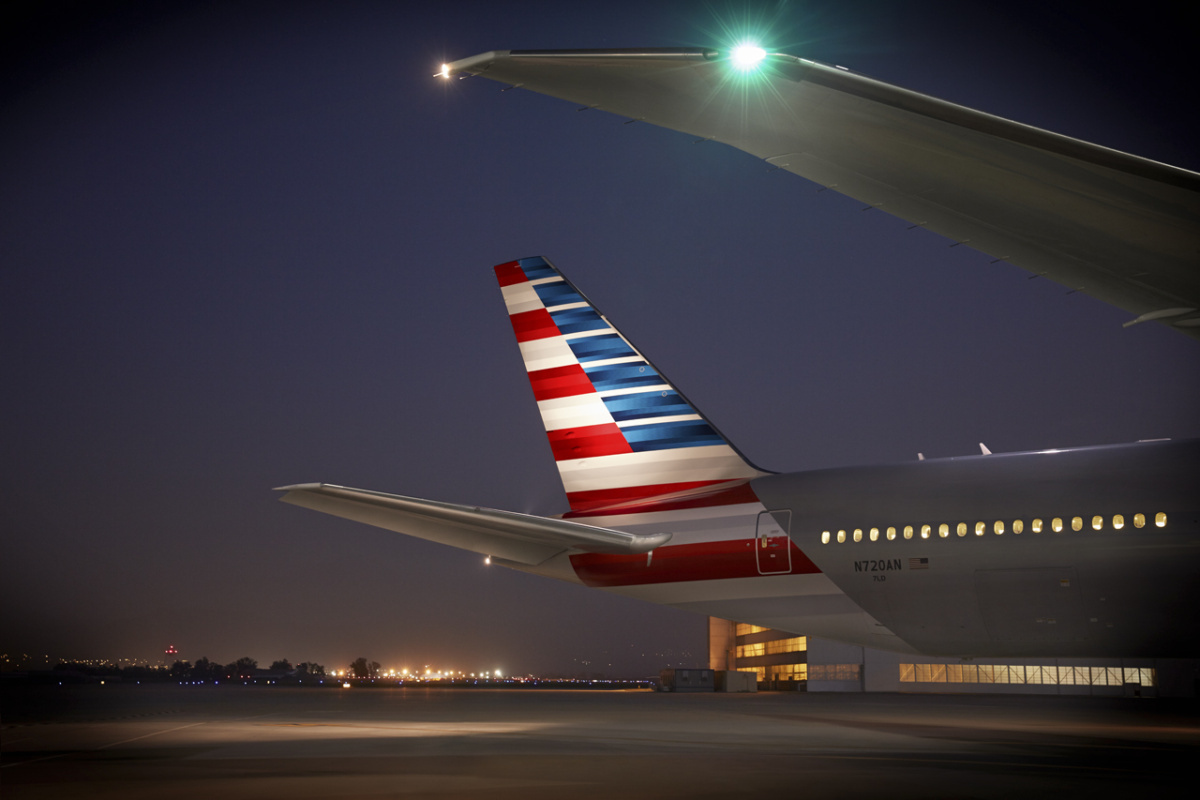 American Airlines 777-300 tail fin
