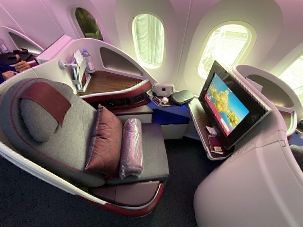 Qatar Airways lie-flat