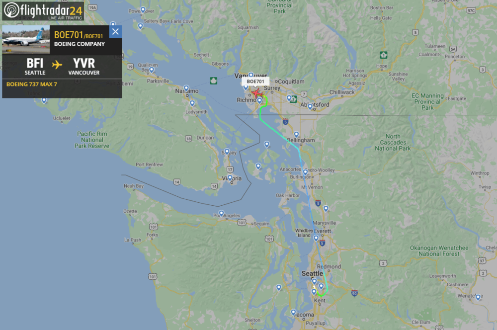 Boeing's Test 737 MAX Flies To Vancouver For EASA Tests - Simple Flying