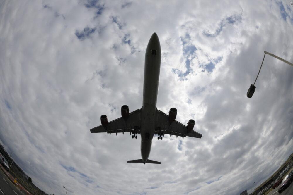A340-600 Plane Silhouette