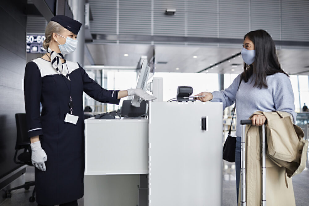 Finnair check-in desk