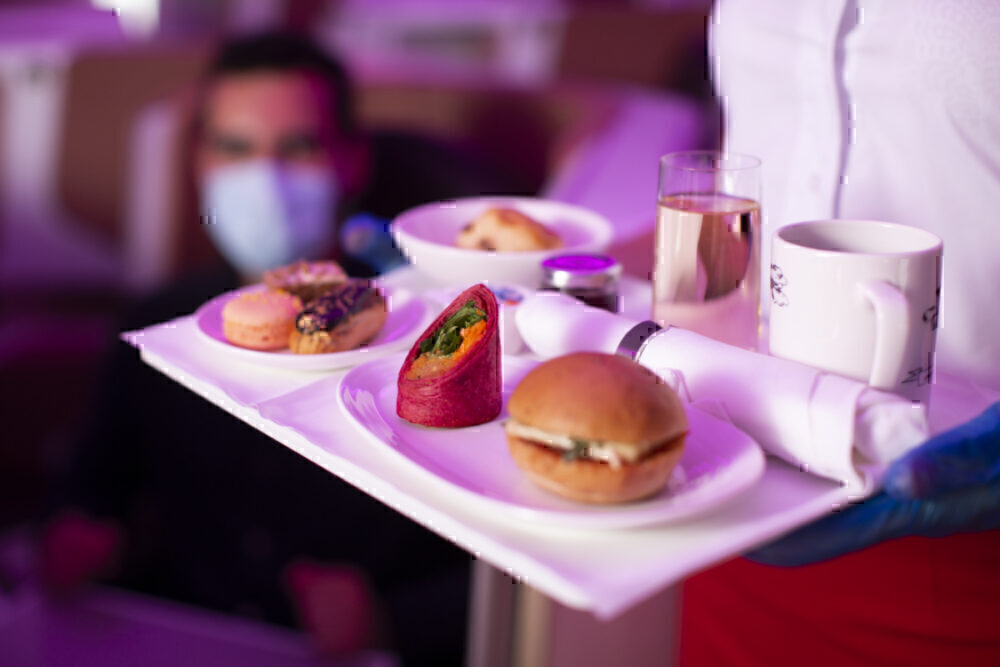 Virgin Upper Class meal tray