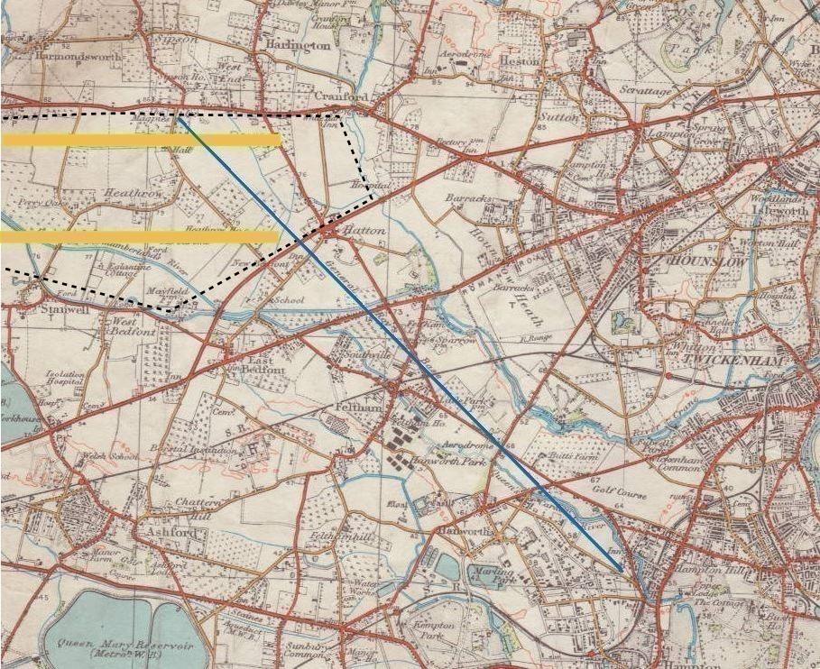 Heathrow OS map 1930s