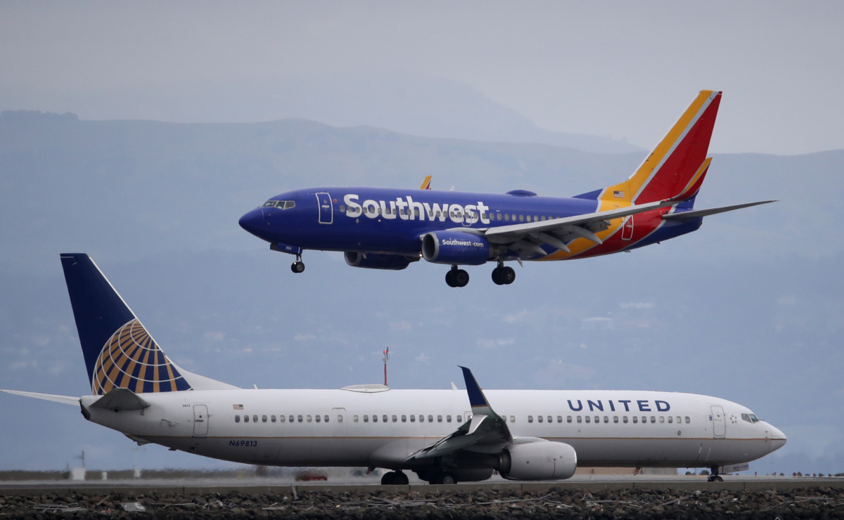 US Airlines United and Southwest Getty