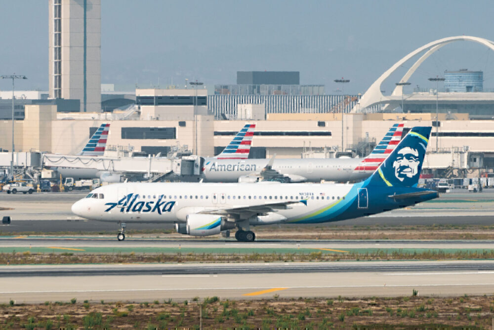 Alaska Airlines Getty LAX