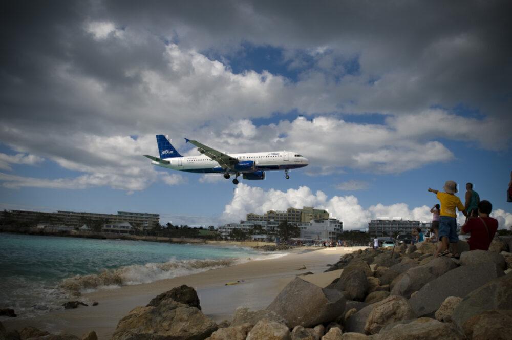 St Maarten landing