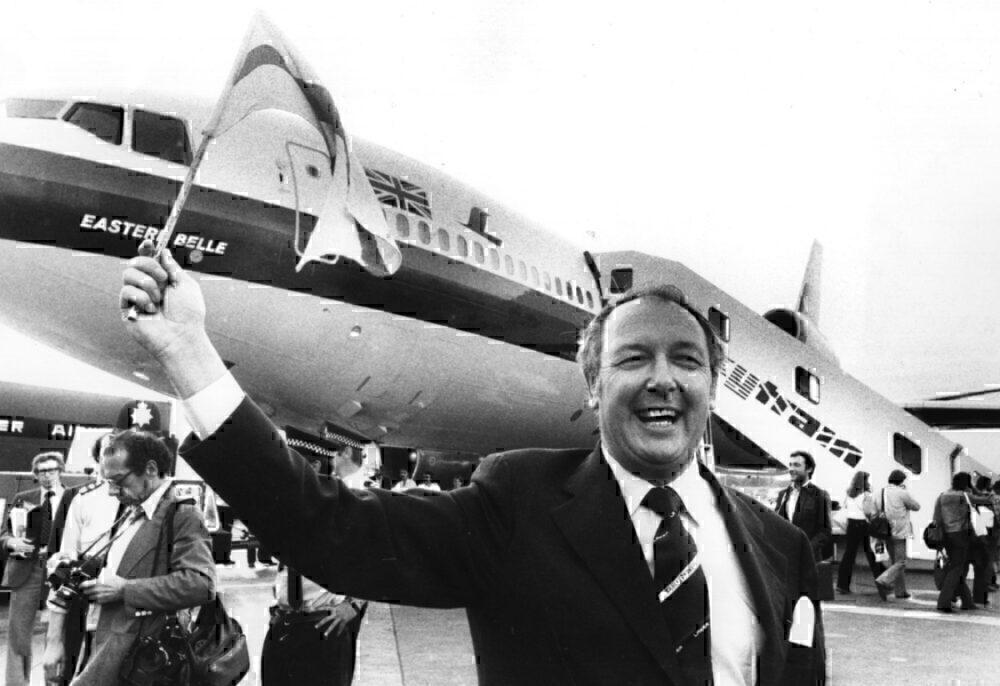 Freddie Laker launching Skytrain