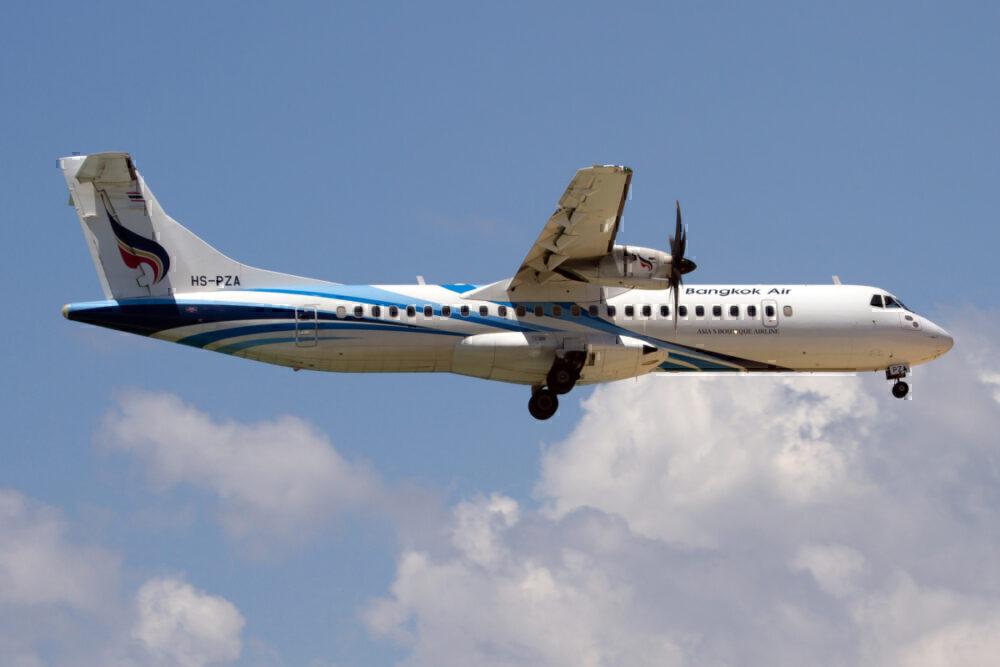 angkok Airways ATR 42-600 on final at Phuket airport