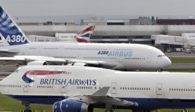 Boeing 747 and Airbus A380