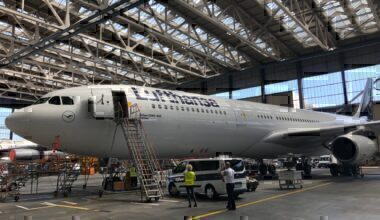 Lufthansa, Airbus A340-300, Tour