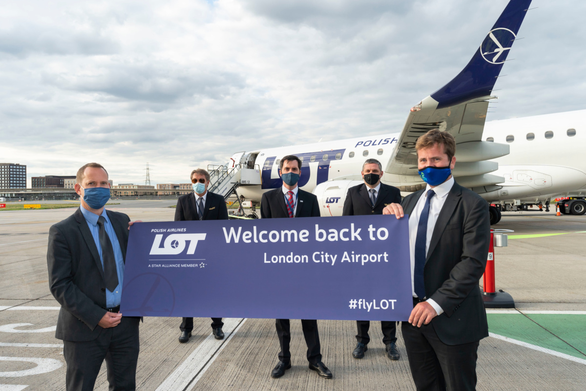 LOT Polish Airlines resumes flights to London City from Vilnius