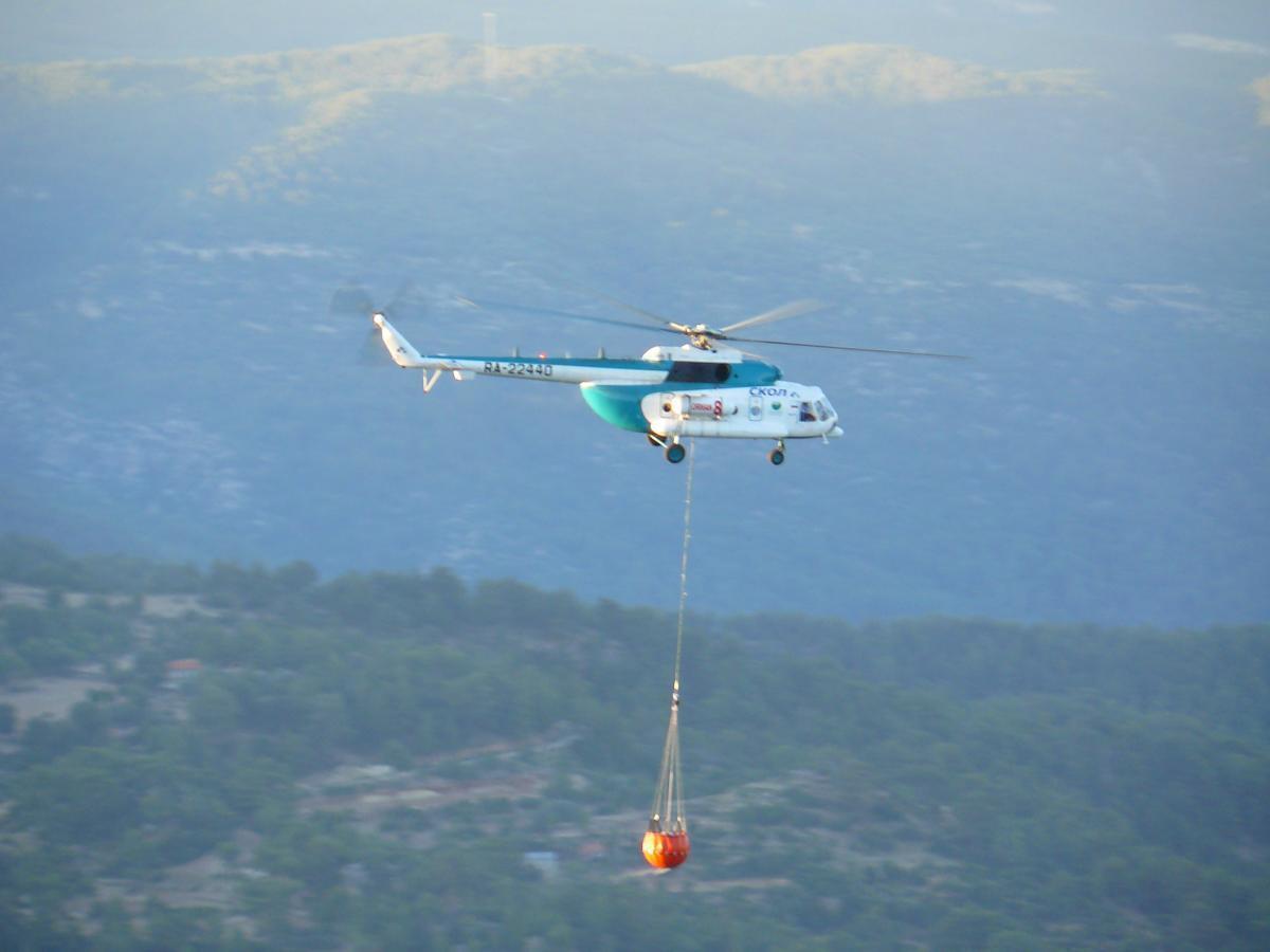 Mi-8 fire-fighting