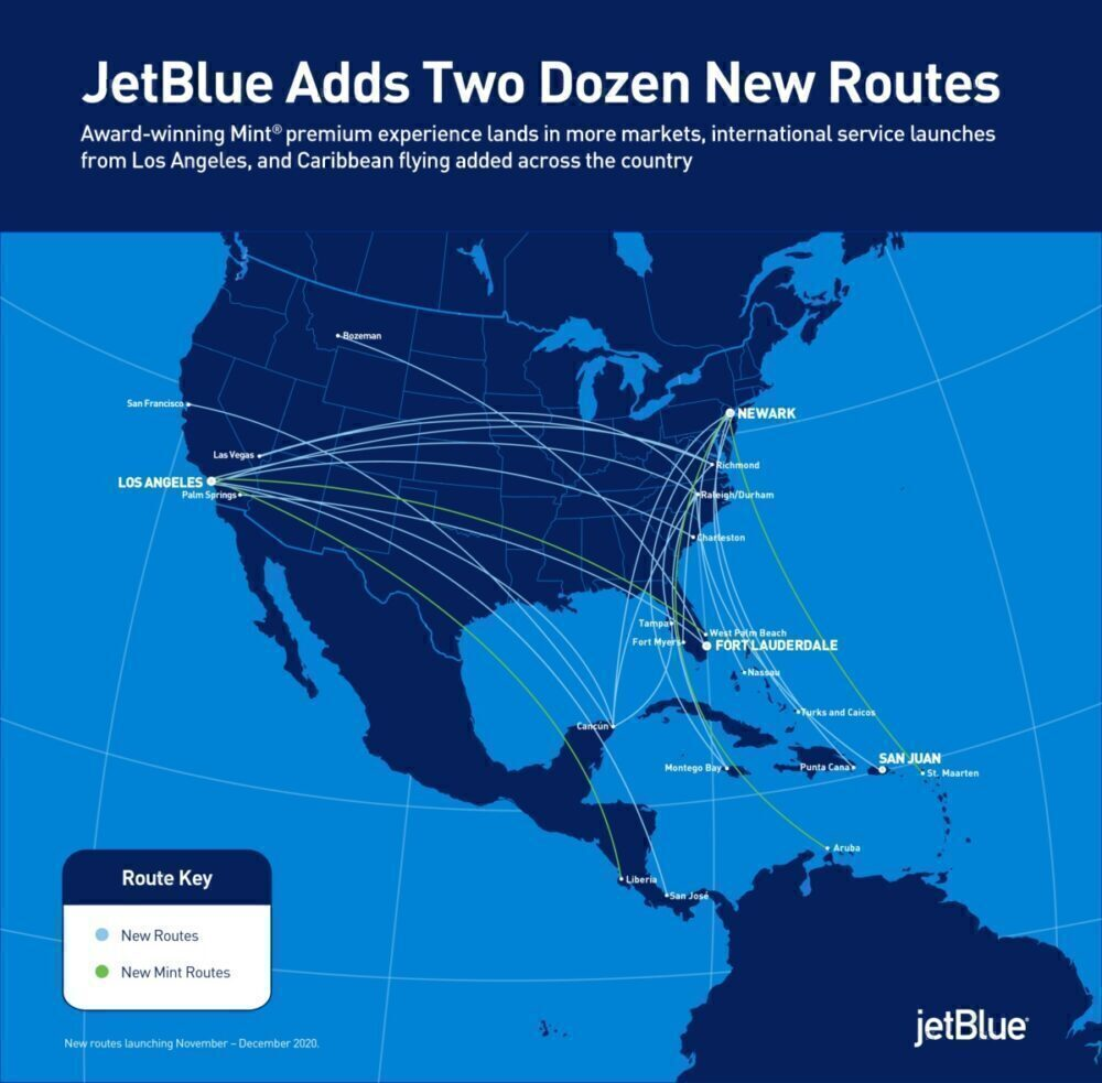 JetBlue, New Routes, Aircraft Reactivation