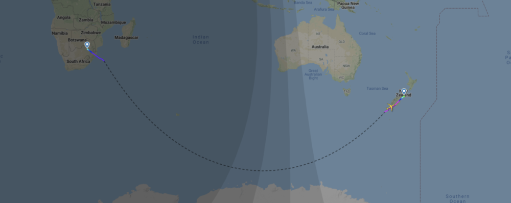 Why A South African Airways Airbus A340 Is In New Zealand