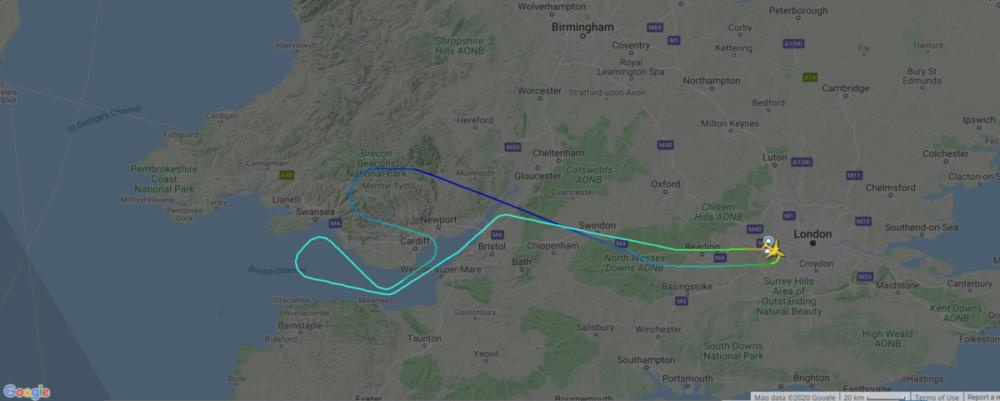 FlightRadar24 BA113 Emergency Landing