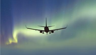 Qantas sightseeing flight to nowhere southern lights