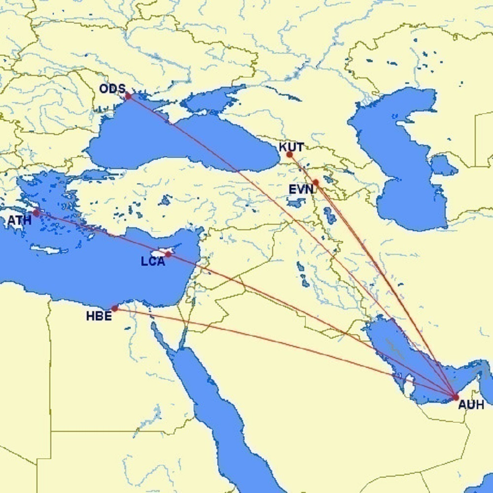 Wizz Air Abu Dhabi Map