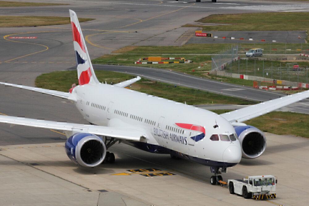 British Airways, Boeing 787, Athens