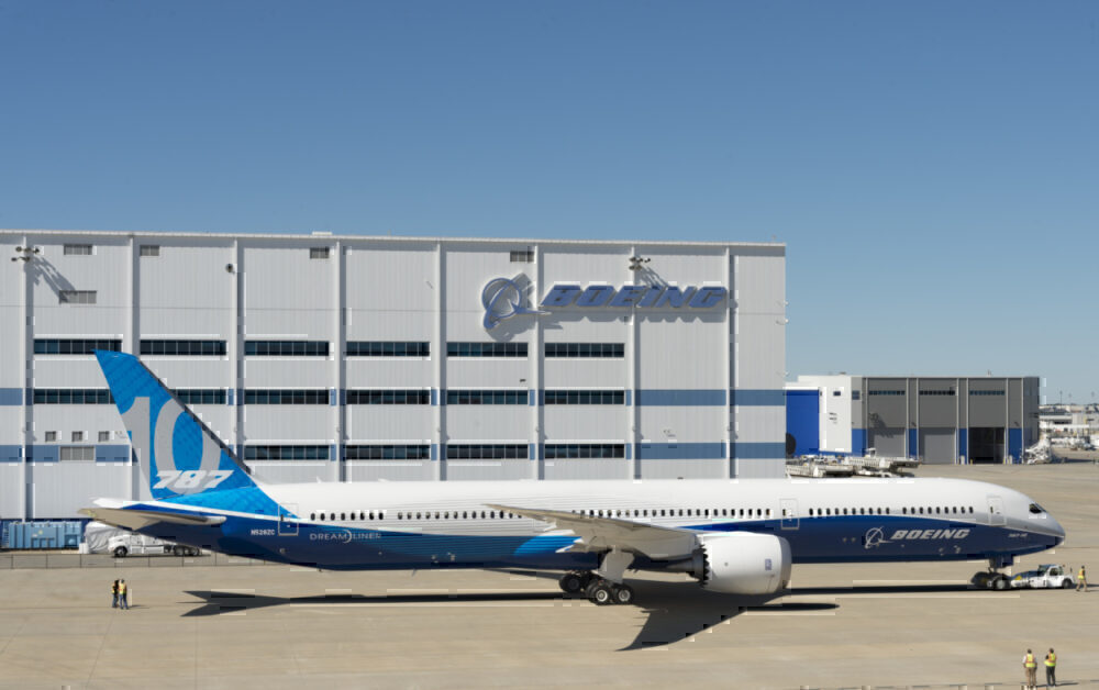Boeing 787-10 dreamliner production south Carolina