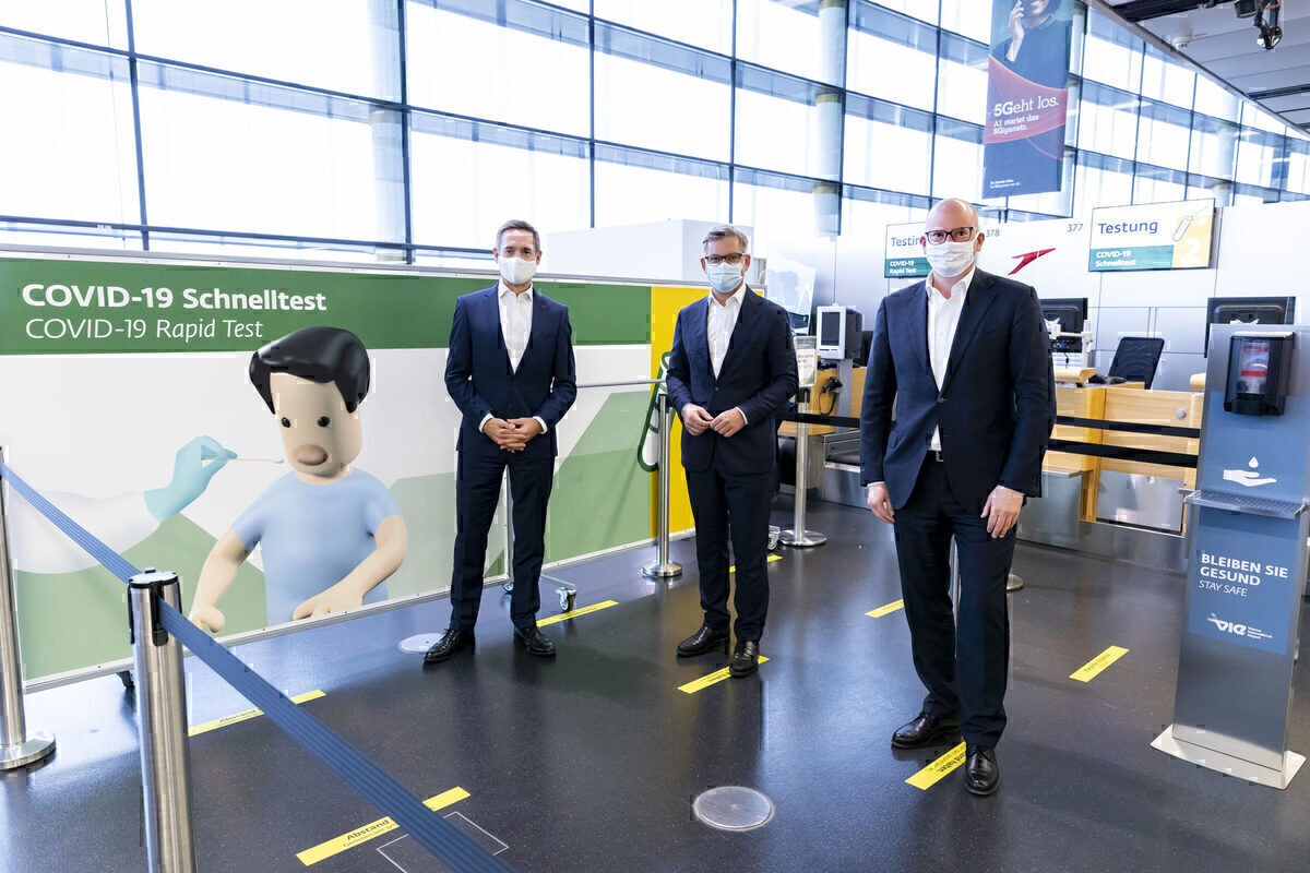 Austrian Airlines Trials Rapid Pre-Departure COVID Tests In Vienna