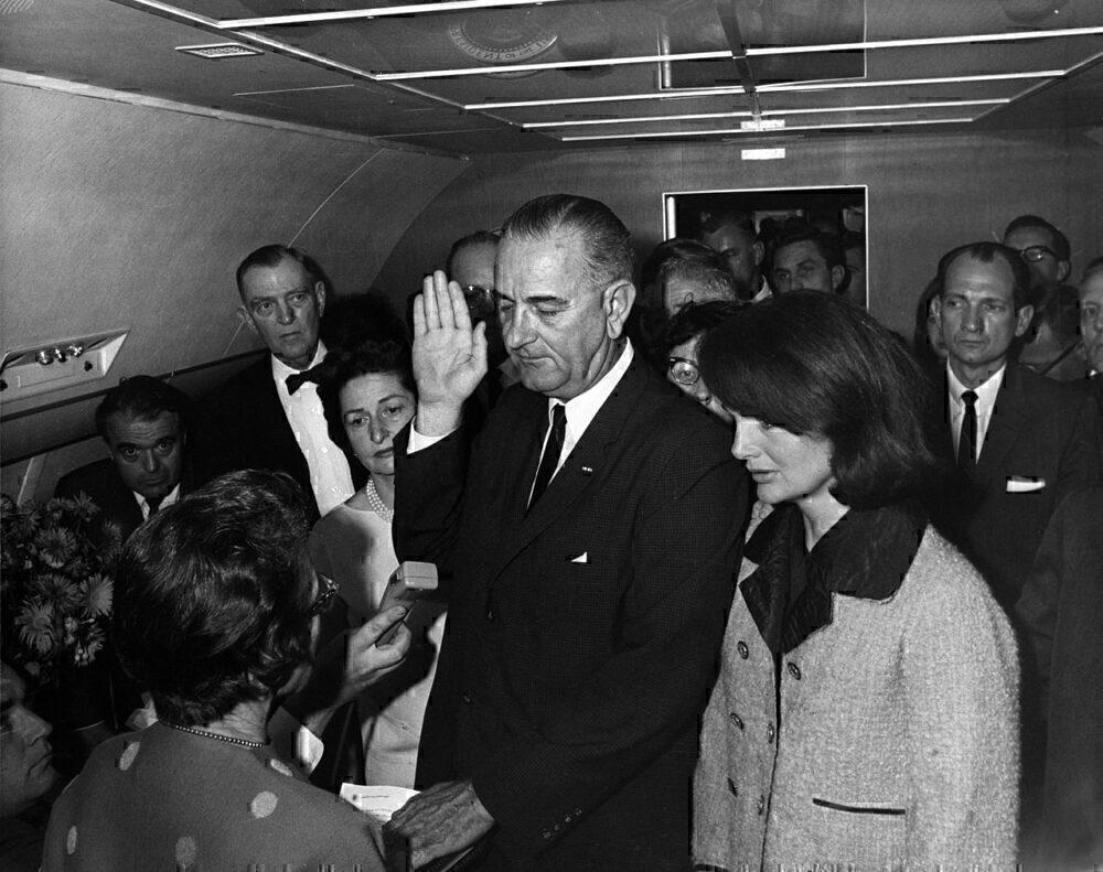 President Johnson sworn in