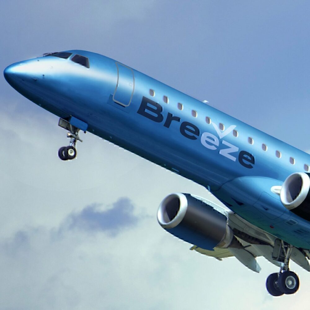 Breeze livery Embraer Airbus A220
