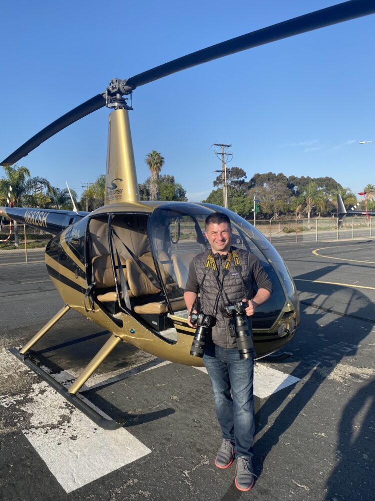 Vincenzo Pace With Helicopter