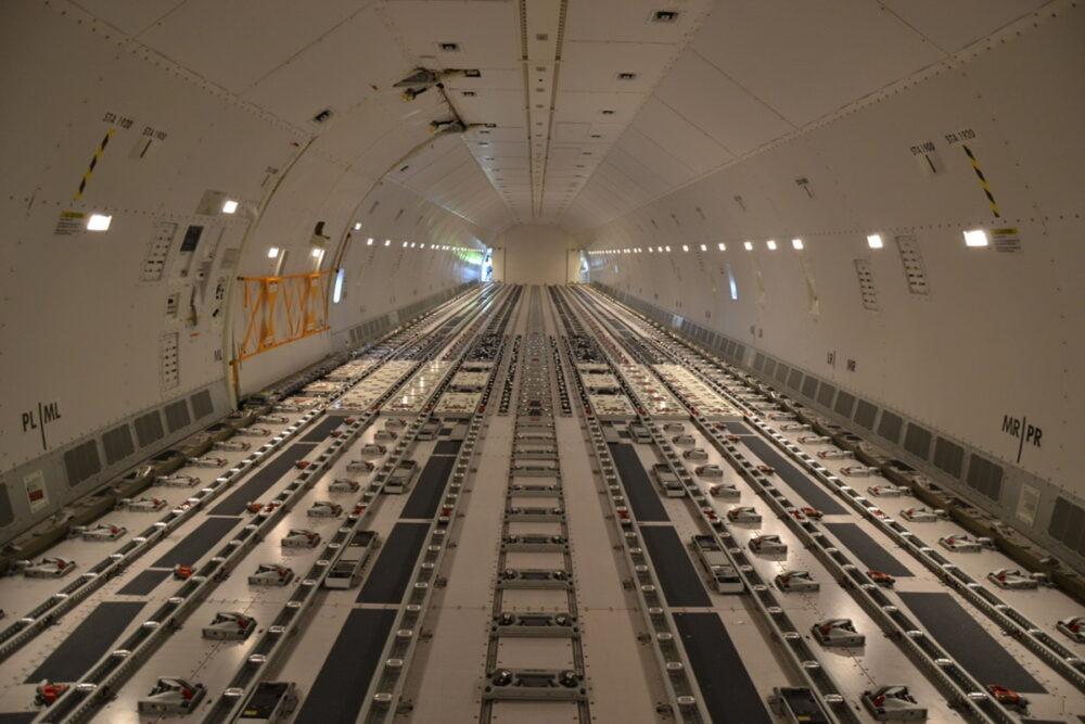 Lufthansa Cargo Boeing 777 Interior