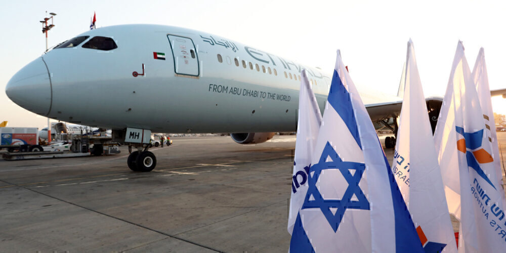 Etihad, Tel Aviv, First Flight