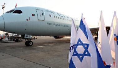 Etihad, Tel Aviv, First Flight