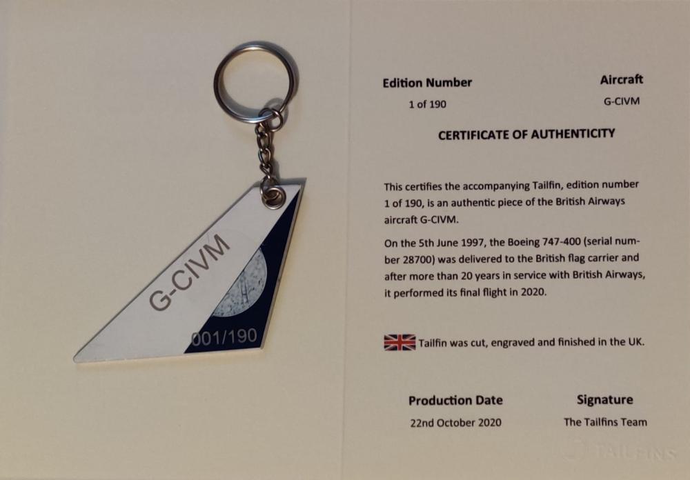 British Airways, Boeing 747, Keyring