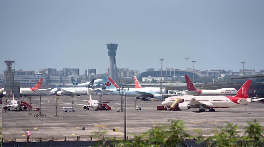 Planes parked Mumbai