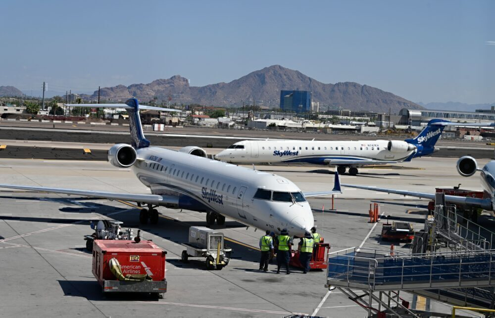 SkyWest aircraft Getty