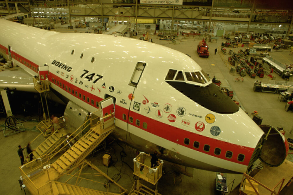 First 747 construction