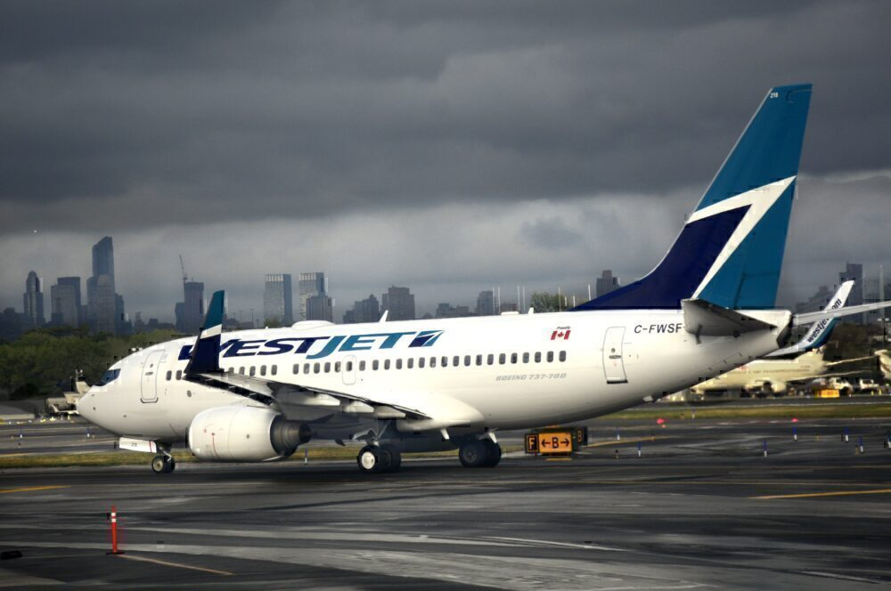 WestJet LaGuardia Getty