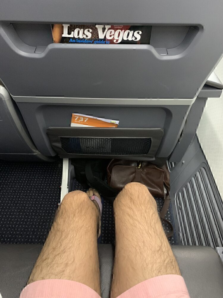 Legroom in first class