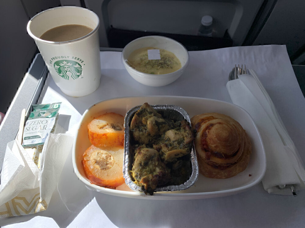 Vistara business class meal
