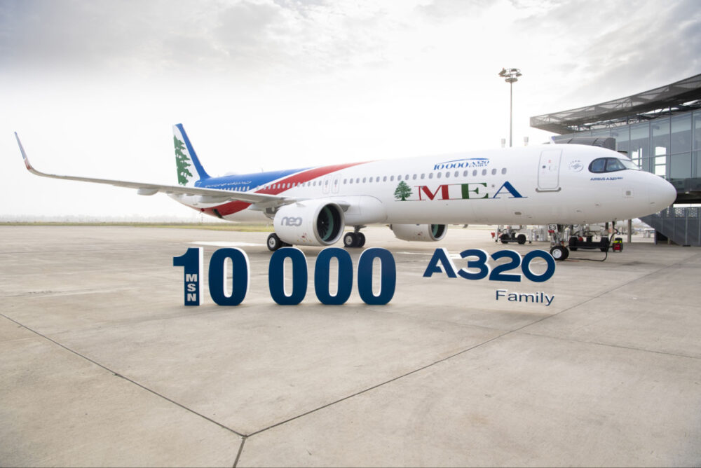 Airbus Delivers The 10,000th A320 Family Aircraft To MEA