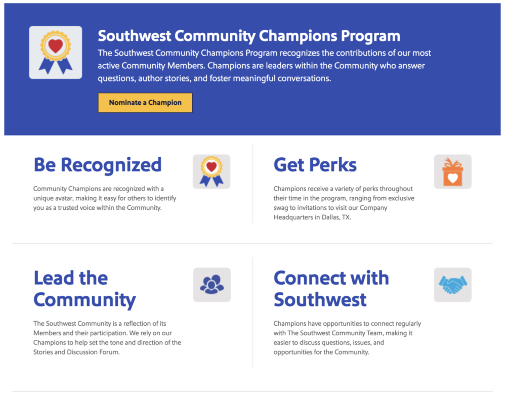 Southwest Airlines community champions