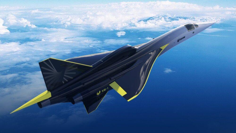 XB-1 in flight