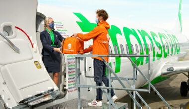 Transavia Just Eat takeaway food